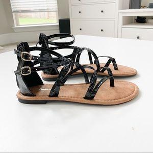 Forever Black Strappy Sandal
